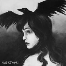 Modèle au corbeau - Julie Salkowski